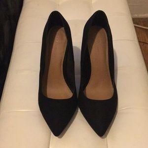 ASOS Black Wide Fit Court Shoe